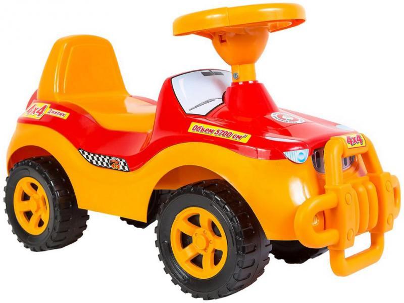 Каталка-машинка RT Джипик POLICE с клаксоном красная ОР105 каталка машинка rt джипик police с клаксоном красная ор105