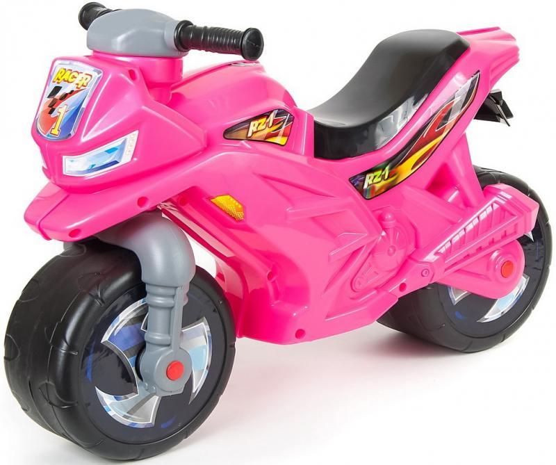 цена на Каталка-мотоцикл беговел RT Racer RZ 1 цвет розовый