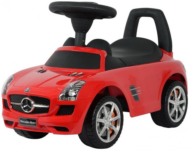 Каталка-автомобиль RT Mercedes-Benz с музыкой - красный 332