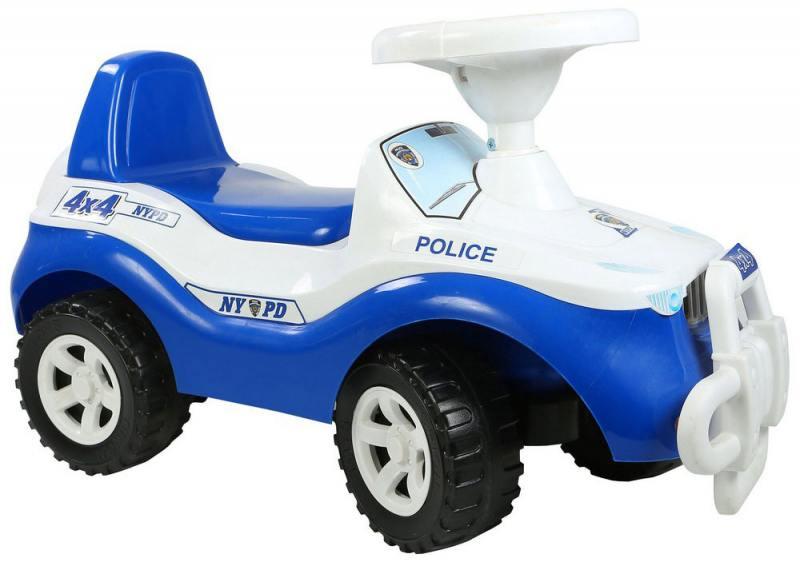 Каталка-машинка RT Джипик POLICE с клаксоном бело-синяя ОР105