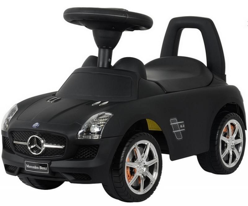 Каталка-машинка Rich Toys Mercedes-Benz с музыкой - черный матовый 332Р каталка машинка rich toys mercedes benz пластик от 1 года музыкальная черный матовый 332р