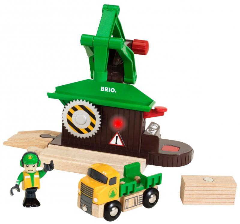 Набор Brio «Лесозаготовочная станция» механический перкресток brio