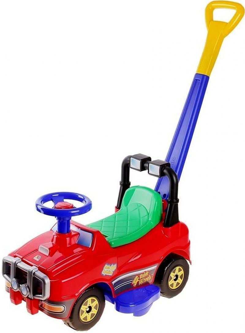 Каталка-машинка Molto Джип с ручкой №2 пластик от 10 месяцев красный