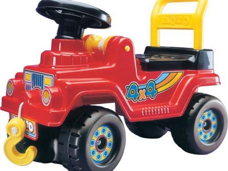Каталка-машинка Полесье Джип 4х4 пластик от 1 года с гудком красный 1534