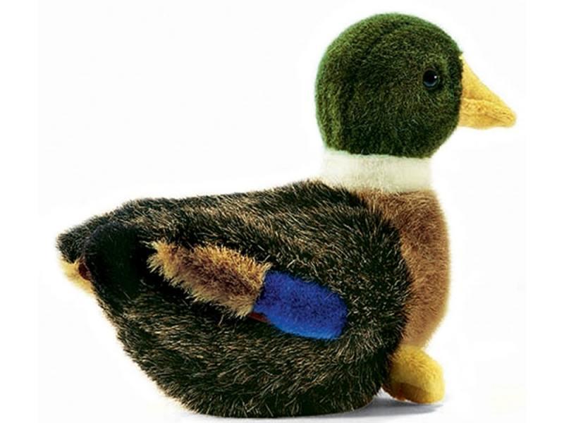 Мягкая игрушка утка Hansa 2053 19 см разноцветный искусственный мех мягкая игрушка панда hansa 4473 30 см разноцветный искусственный мех