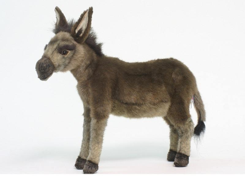 Мягкая игрушка осел Hansa 3805 41 см бежевый текстиль