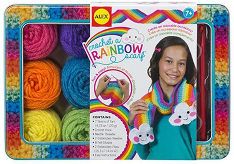 Набор для вязания крючком Радужный шарф, от 8 лет