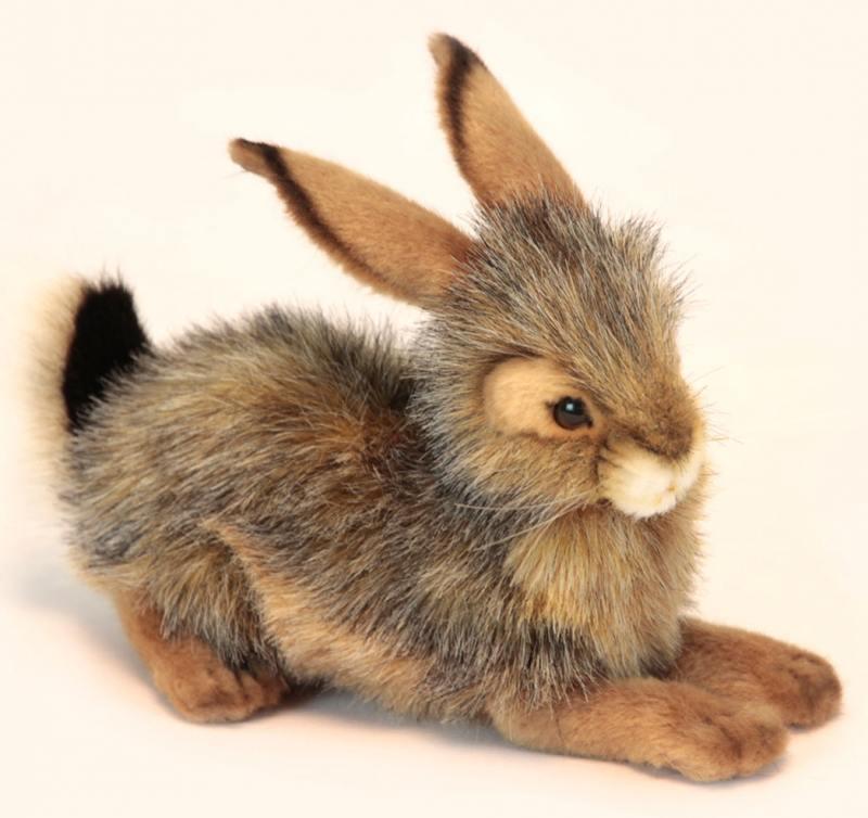 Мягкая игрушка Hansa Кролик черный 25 см, 6284 hansa кролик черный 25 см