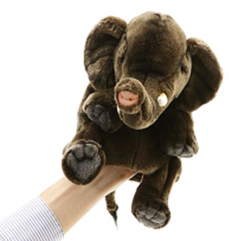 Мягкая игрушка Hansa (Слон игрушка на руку) 24 см 4040 hansa мягкая игрушка лиса