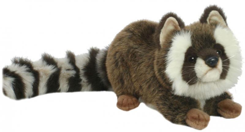 Мягкая игрушка Hansa Енот лежащий 74 см 2312 мягкие игрушки hansa енотик лежащий 34 см