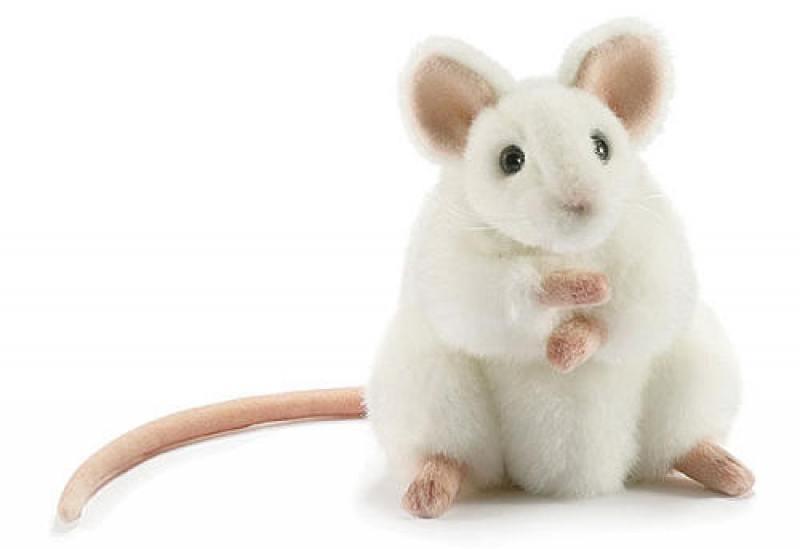 Мягкая игрушка Hansa Белая мышь, 16 см 5323 фигурка hansa овечка белая 29 см 4806021956489