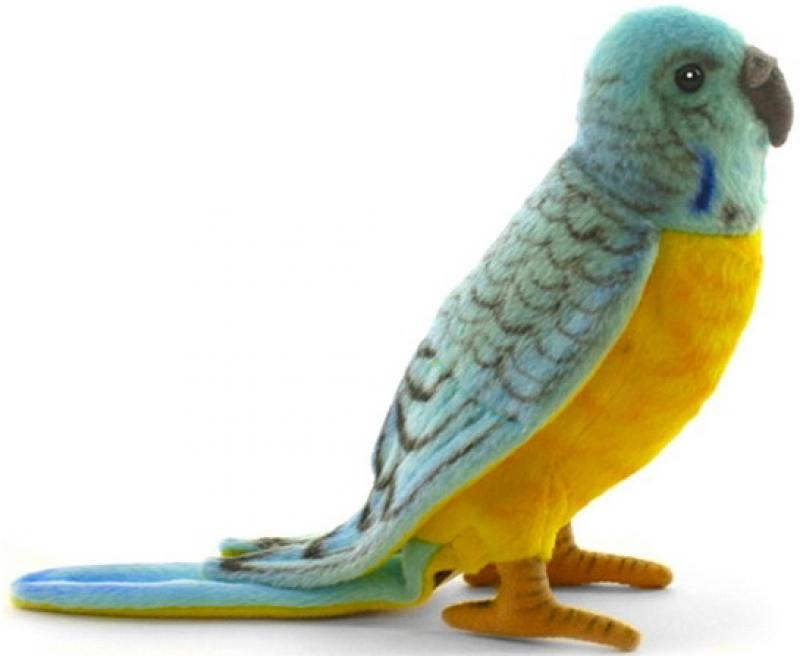 Мягкая игрушка Hansa Попугай волнистый голубой, 15 см 4653П