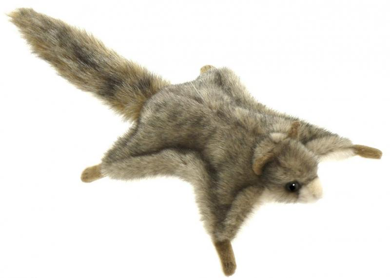 Мягкая игрушка Hansa Белка летяга, 21 см 4116 мягкая игрушка белка hansa белка летяга искусственный мех серый 21 см 4116