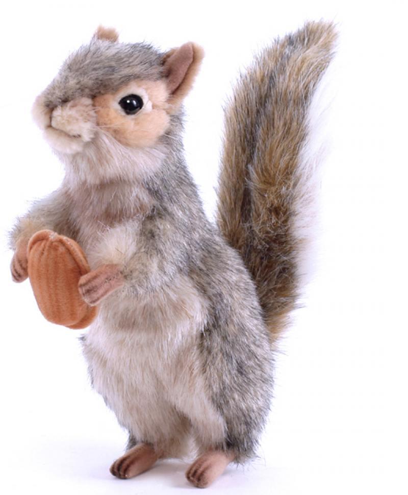 Фото Мягкая игрушка Hansa Белка серая стоящая, 20 см 4841 hansa мягкая игрушка обезьяна белка 25см