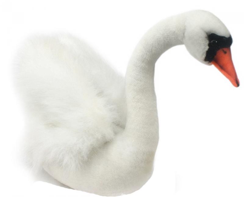 Мягкая игрушка Hansa Белый лебедь, 32 см 2983 мягкая игрушка hansa лебедь белый 27 см 4085