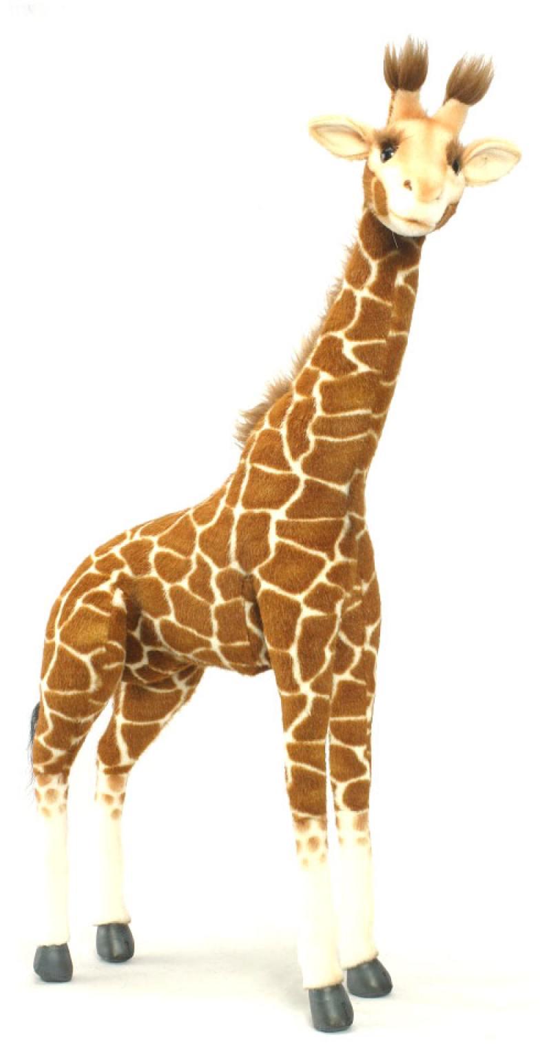 Мягкая игрушка Hansa Жираф стоящий, 70 см 3304 мягкая игрушка hansa хаски серый стоящий 75 см 6034
