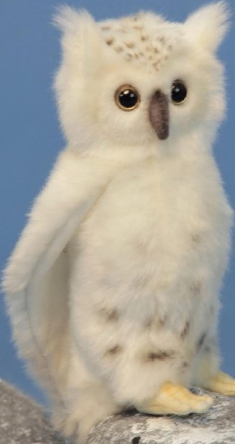 Мягкая игрушка Hansa Сова белая, 18 см 6155 фигурка hansa овечка белая 29 см 4806021956489