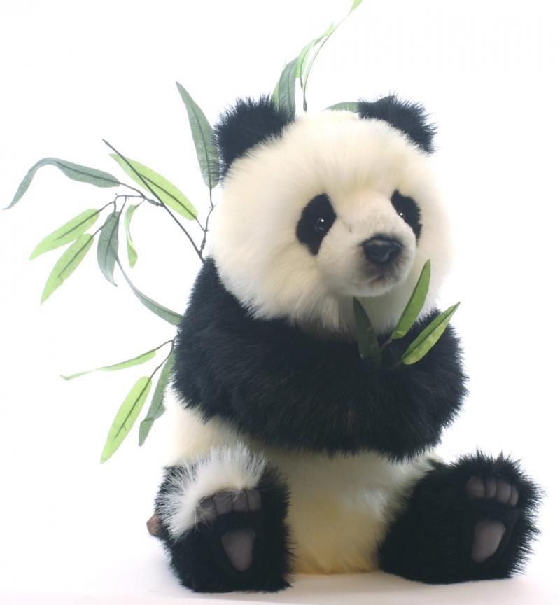 Мягкая игрушка Hansa Детеныш панды, сидящий, 41 см 4183