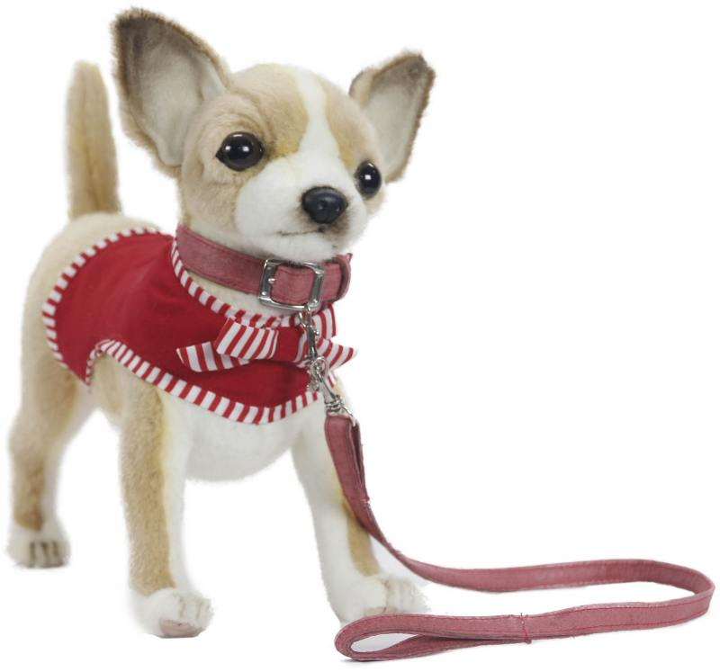 Мягкая игрушка Hansa  Чихуахуа в красном, 27 см 6383 чихуахуа в красном 27см