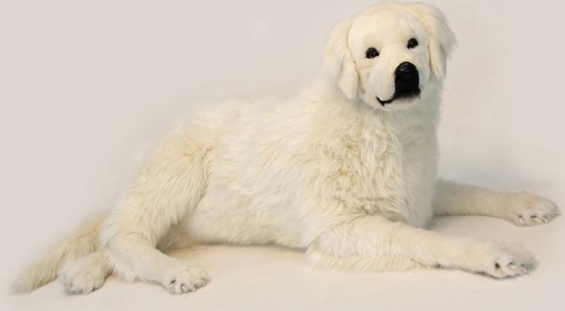 Мягкая игрушка Hansa Пиренейская горная собака, лежащая, 130 см 6949 hansa мягкая игрушка собака себастиан