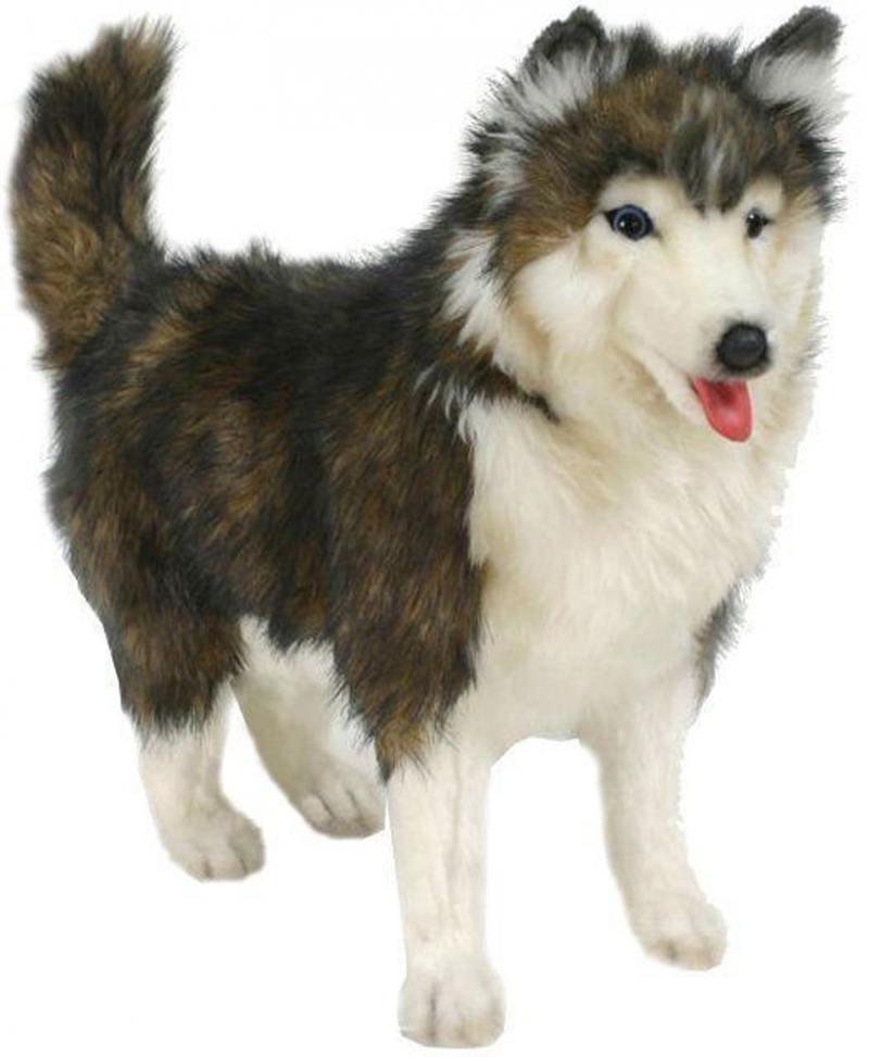 Мягкая игрушка Hansa Собака породы Сибирский Хаски, 40 см 4824 малышарики мягкая игрушка собака бассет хаунд 23 см