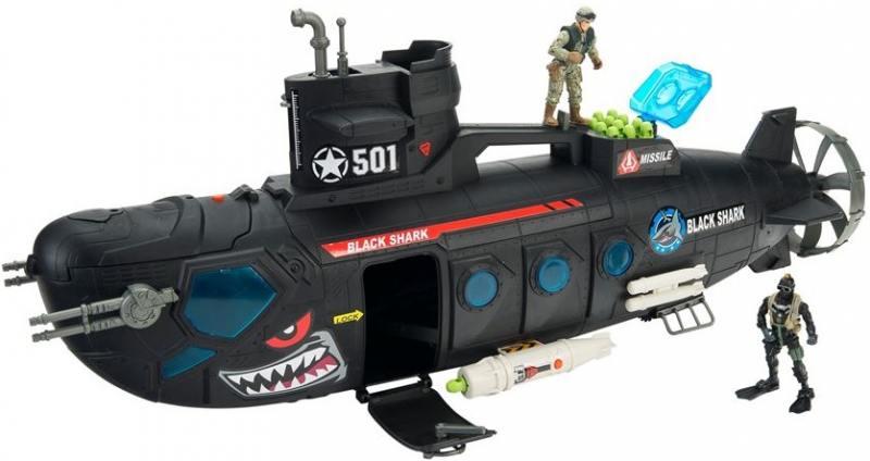 Игровой набор Chap Mei Боевая субмарина с батискафом (3 фигуры, звук, свет, стреляет) 521016