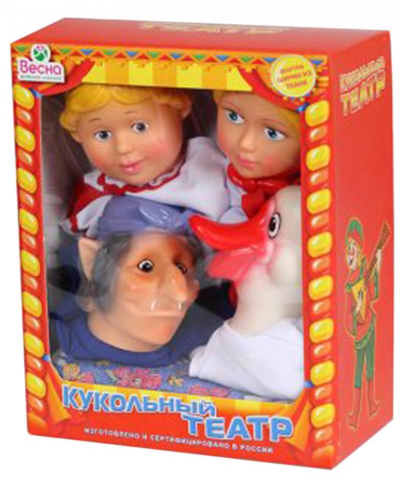 Кукольный театр ВЕСНА 4 персонажа с ширмой №3  В2931