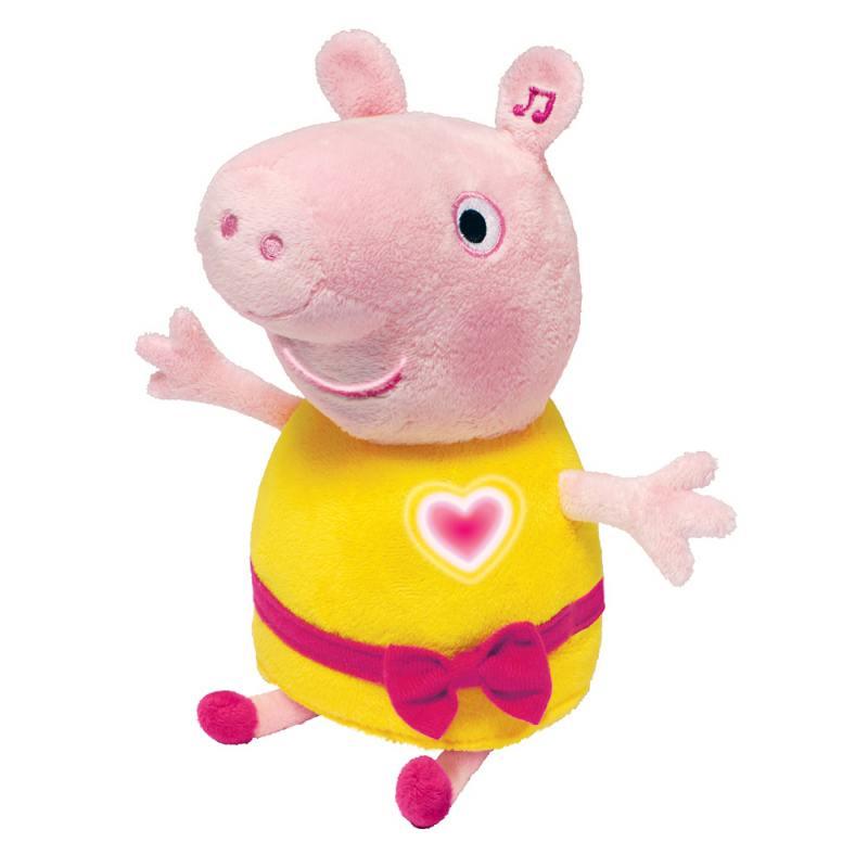Мягкая игрушка Росмэн Пеппа, 30 см, аним.речь, свет, звук