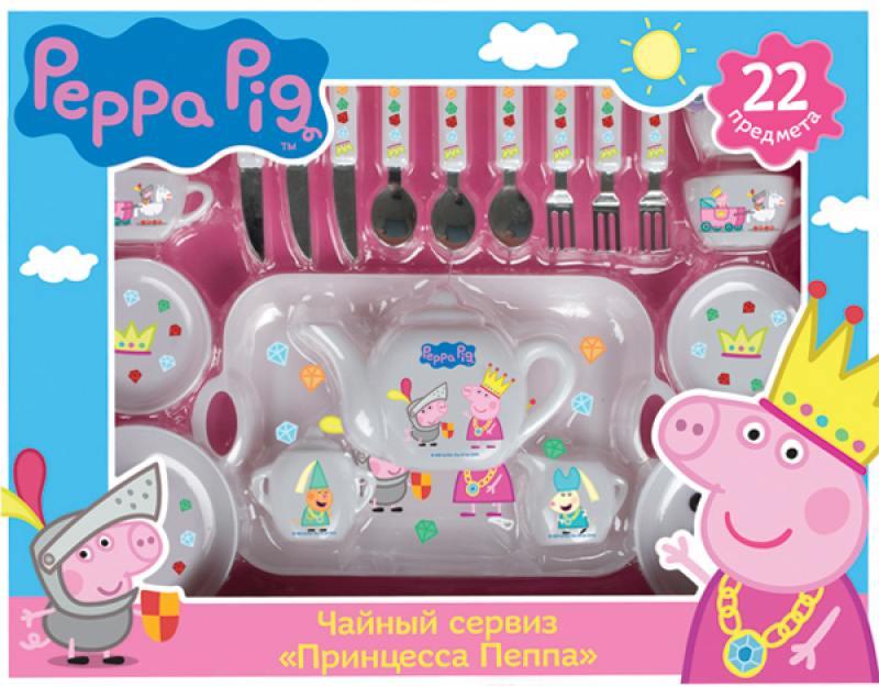 Набор посуды Росмэн Принцесса Пеппа, 22 пр., Peppa Pig росмэн peppa pig superstar