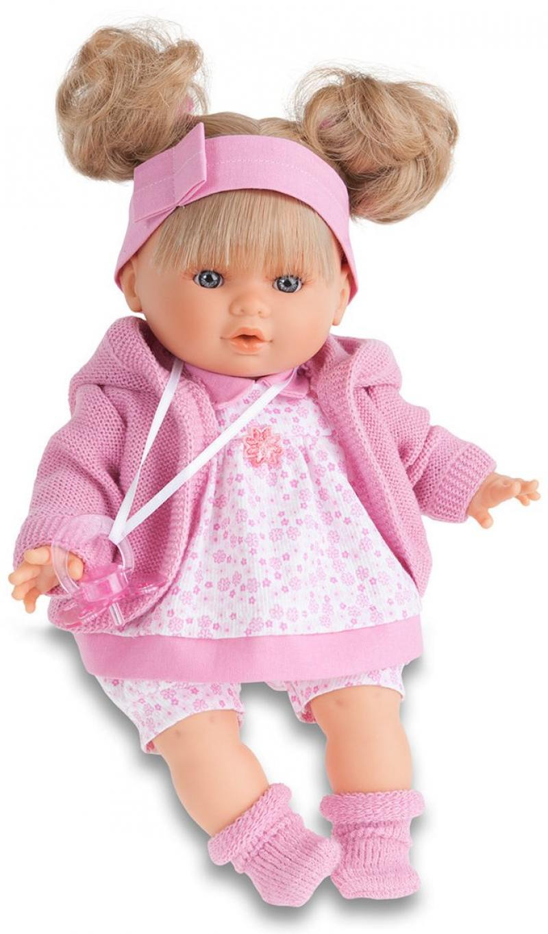 Кукла Munecas Antonio Juan Кристи в розовом 30 см плачущая 1337P кукла кристи в красном juan antonio 30 см 1337r