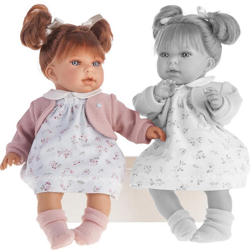 Кукла Munecas Antonio Juan Лорена в белом 37 см со звуком 1558W карапуз кукла рапунцель со светящимся амулетом 37 см со звуком принцессы дисней карапуз