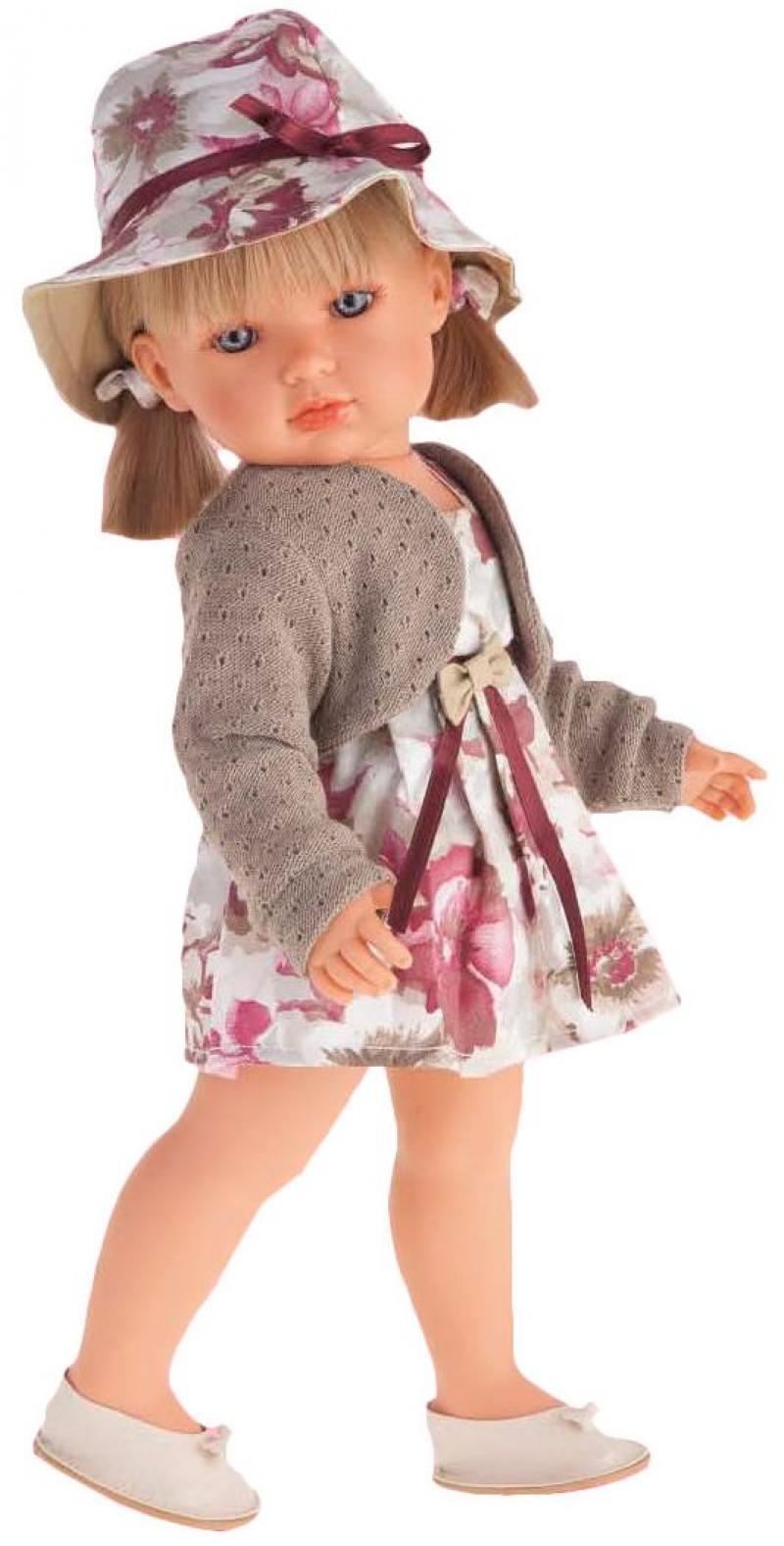 Кукла Munecas Antonio Juan Белла в шляпке, блондинка 45 см 2808P munecas antonio juan munecas antonio juan кукла аделина блондинка 55 см