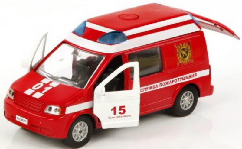 Машина мет. ин. Пламенный мотор 1:32 Служба пожаротушения, откр.двери, свет, звук машина пламенный мотор mitsubishi полиция 870105