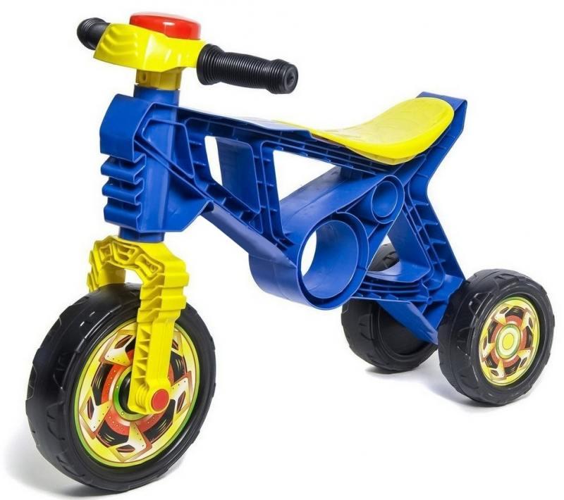Купить Каталка-беговел трехколёсный RT Самоделкин с клаксоном синий ОР171/5262, Игрушки