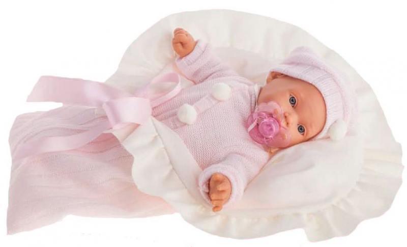 Фото Кукла Munecas Antonio Juan Ланита в розовом 27 см плачущая 1110Р