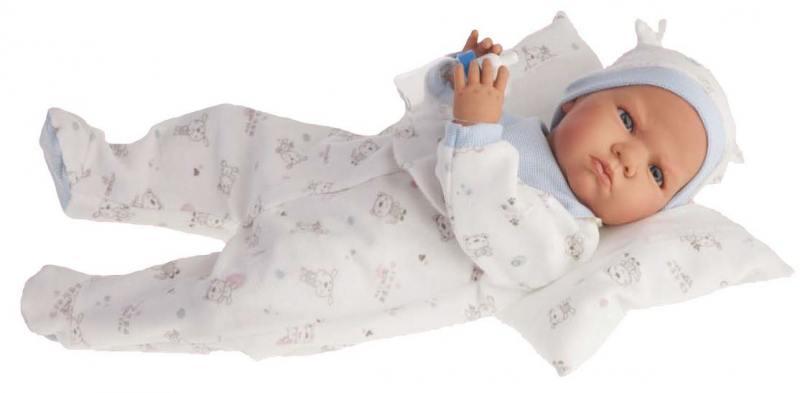 Кукла Munecas Antonio Juan Бертина в голубом 52 см со звуком 1951B куклы antonio juan кукла бертина в голубом озвученная 52см
