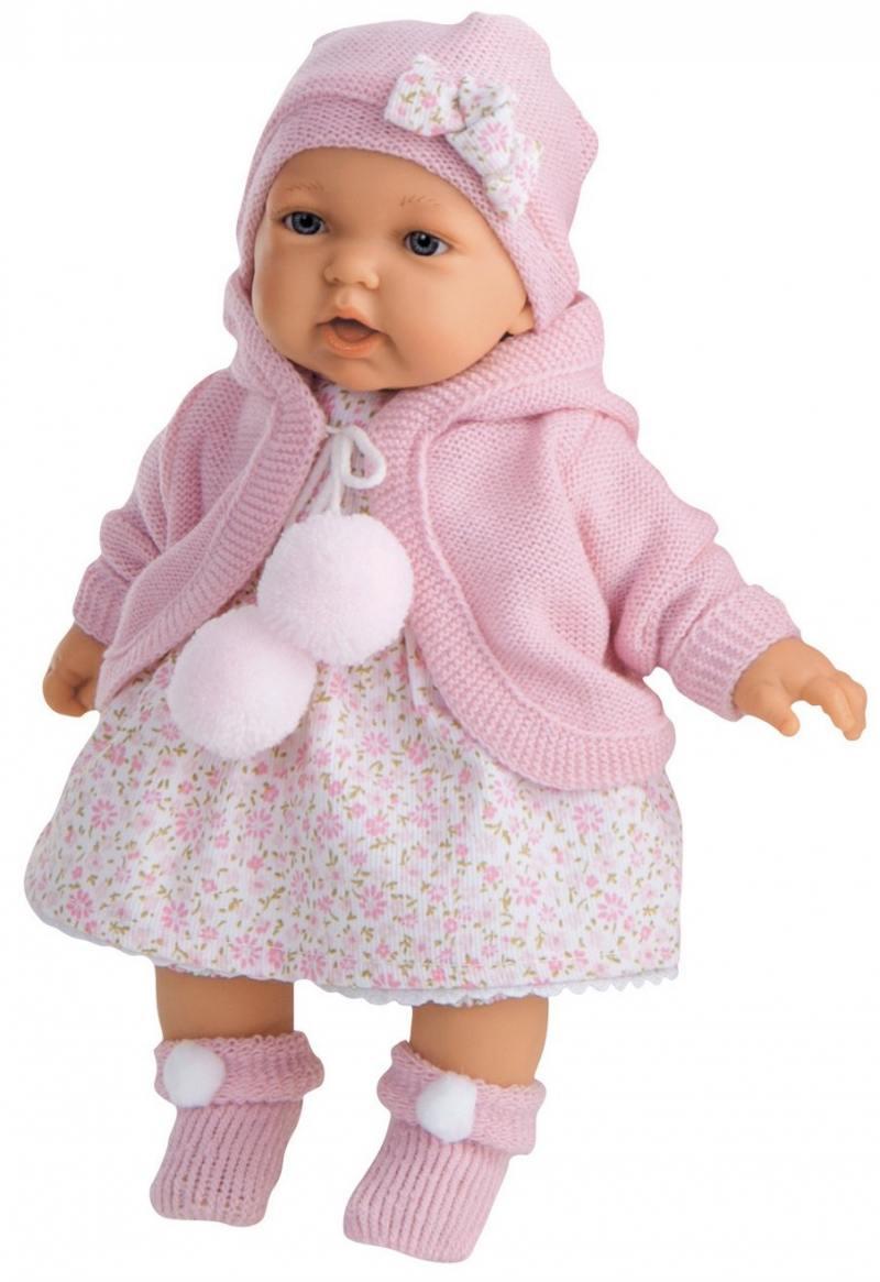 Кукла Munecas Antonio Juan Азалия в розовом 27 см мягкая говорящая смеющаяся 1220Р пупс munecas antonio juan элис в голубом говорящая смеющаяся мягкая 27 см 1227b