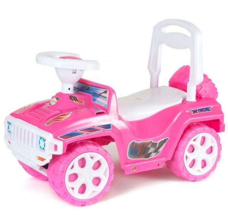 Каталка-машинка с родительской ручкой RT Race Mini Formula 1 розовый ОР856 цена