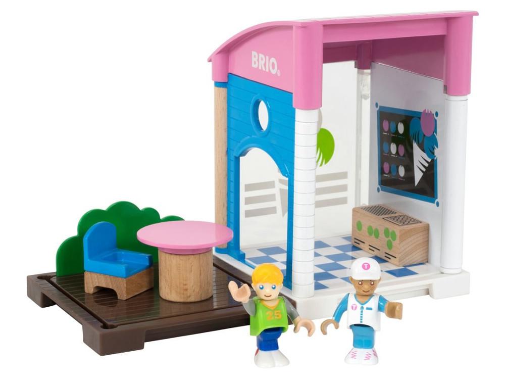 Игровой набор Brio Кафе-мороженое,13 предметов каталки игрушки brio вертолет