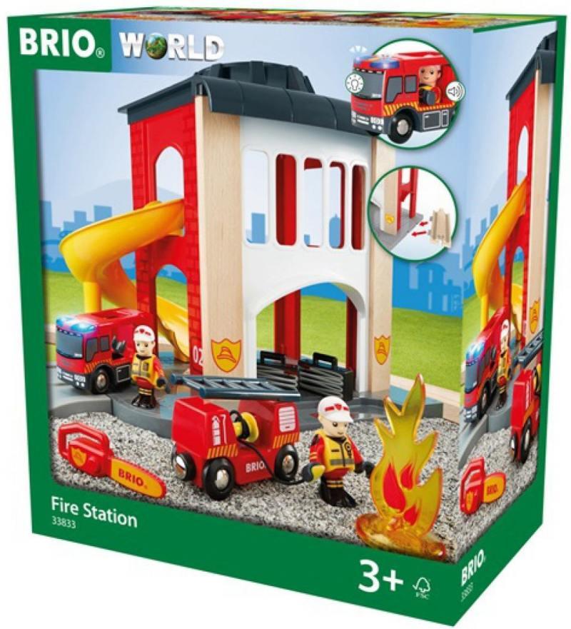Игровой набор Brio Пожарное отделение,2 эт.,свет,звук,12 предм.,35х20х39см,кор.