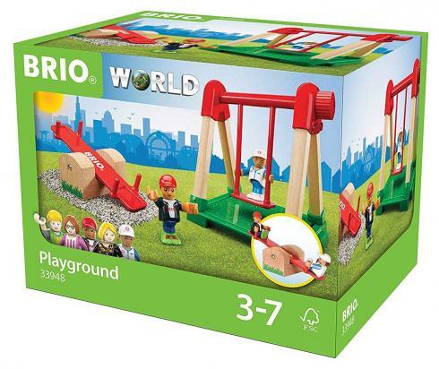 Игровой набор Brio Детская площадка,4 предмета набор игровой с американскими горками brio 33730