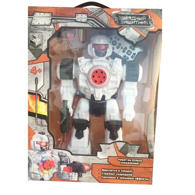 Робот 1toy Звездный защитник робот на д/у, стреляет липучками, движ. во всех направ., свет, звук.эфф