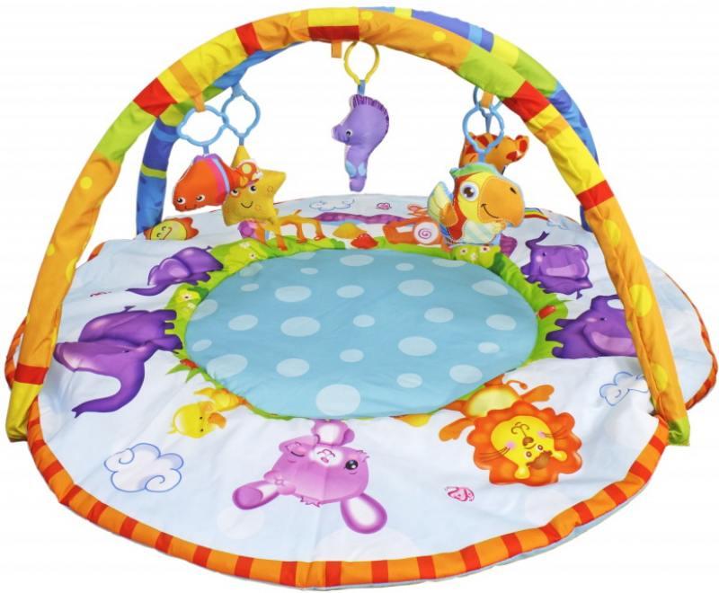 Развивающий коврик S+S Toys BAMBINI с дугой:веселые зверюшки 70cm chi s sweet home plush toys cat aoft toys stuffed plush toys factory supply freeshipping