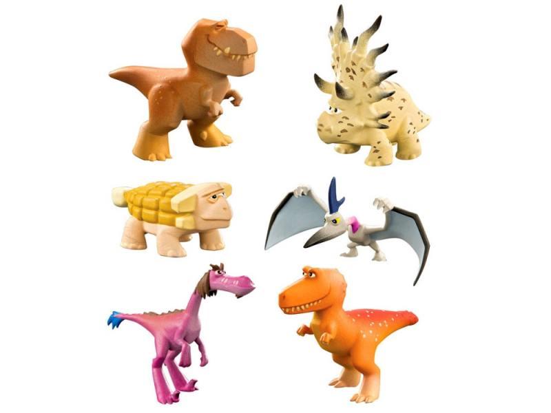 Набор фигурок Good Dinosaur Анкилозавр, Раптор, Бутч, Ремси, Аконтофиопс, Птеродактиль 62309 набор фигурок good dinosaur кеттл и раптор 62305