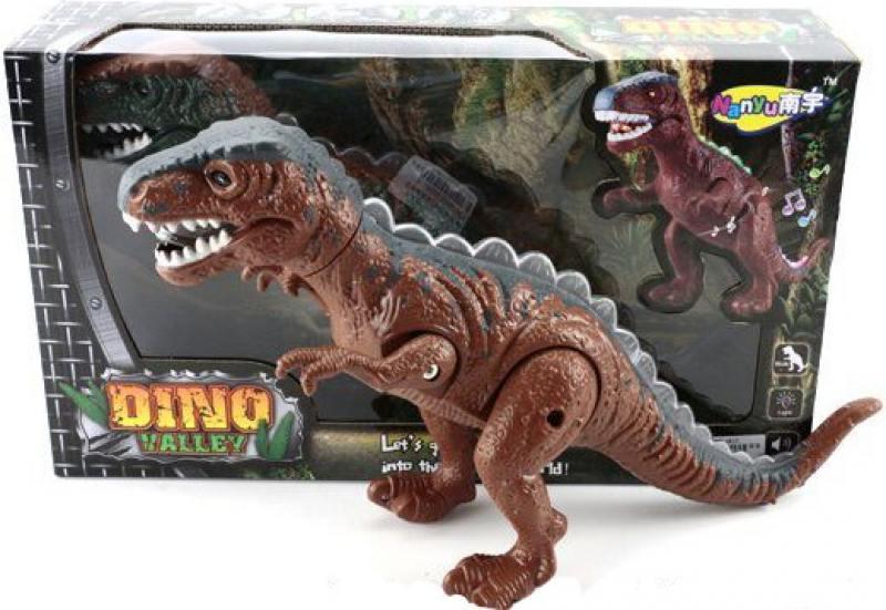 Интерактивная игрушка Shantou Gepai Динозавр эл. 632072 от 3 лет коричневый NY007-A