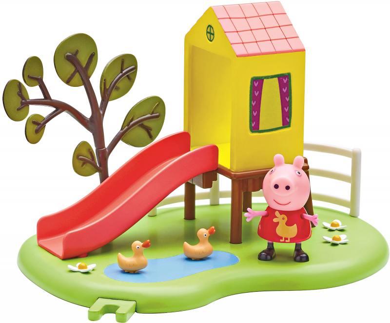 Игровой набор Peppa Pig Игровая площадка: Домик с горкой peppa pig игровой набор площадка качели