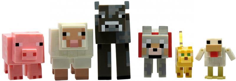 цена на Игровой набор Minecraft - набор фигурки животных 6 шт.,31х8,9х11,5см,кор.