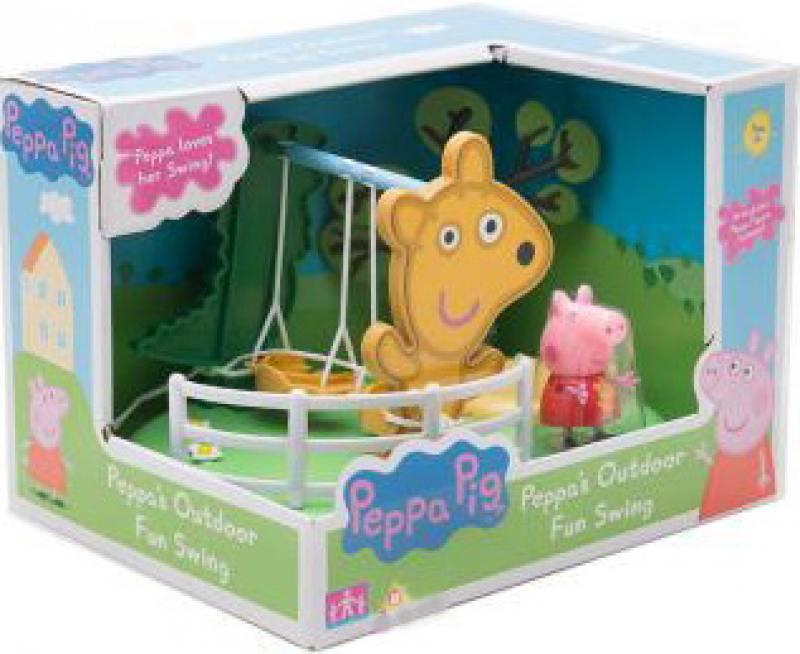 Игровой набор Peppa Pig Игровая площадка: Качели Peppa Pig игровой набор peppa pig игровая площадка горка пеппы 28774
