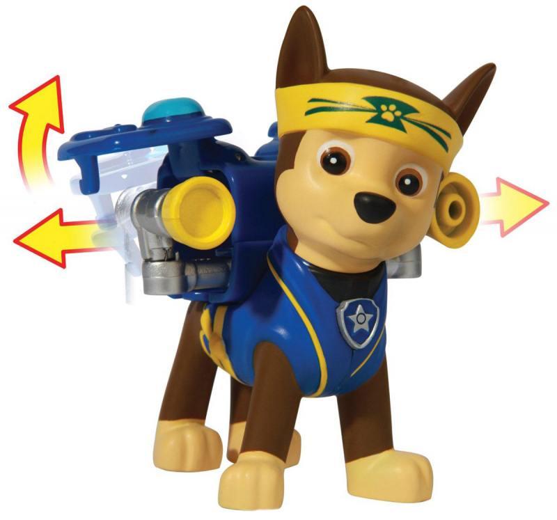 Игрушка Paw Patrol Фигурка спасателя с рюкзаком-трансформером Chase 20072758