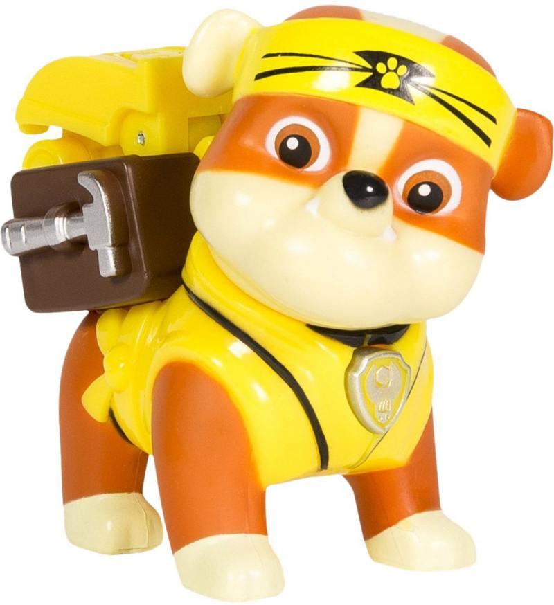 Игрушка Paw Patrol Фигурка спасателя с рюкзаком-трансформером Rubble 20070565 paw patrol
